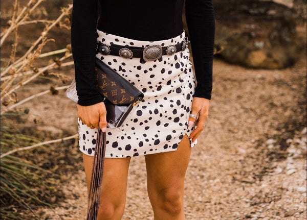 GiGi Cow Print Skirt