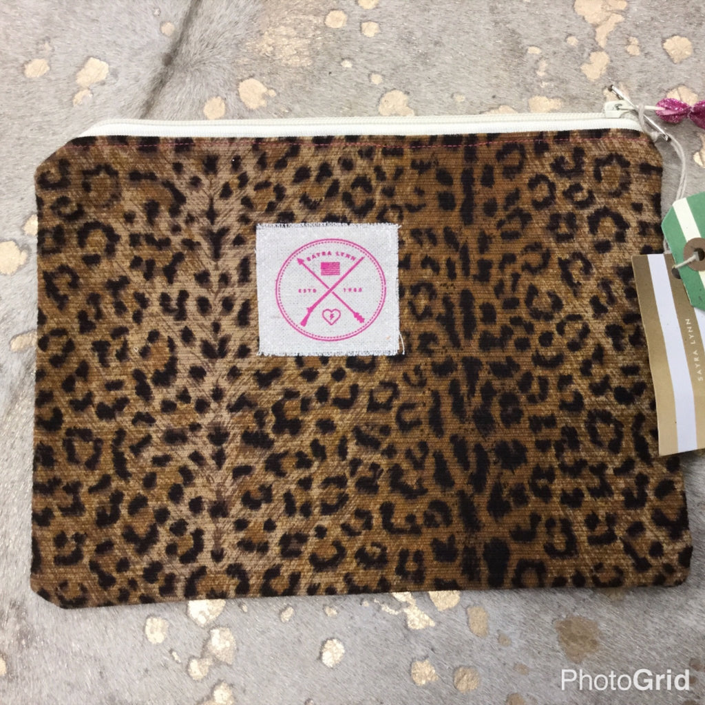 Leopard zip travel bag