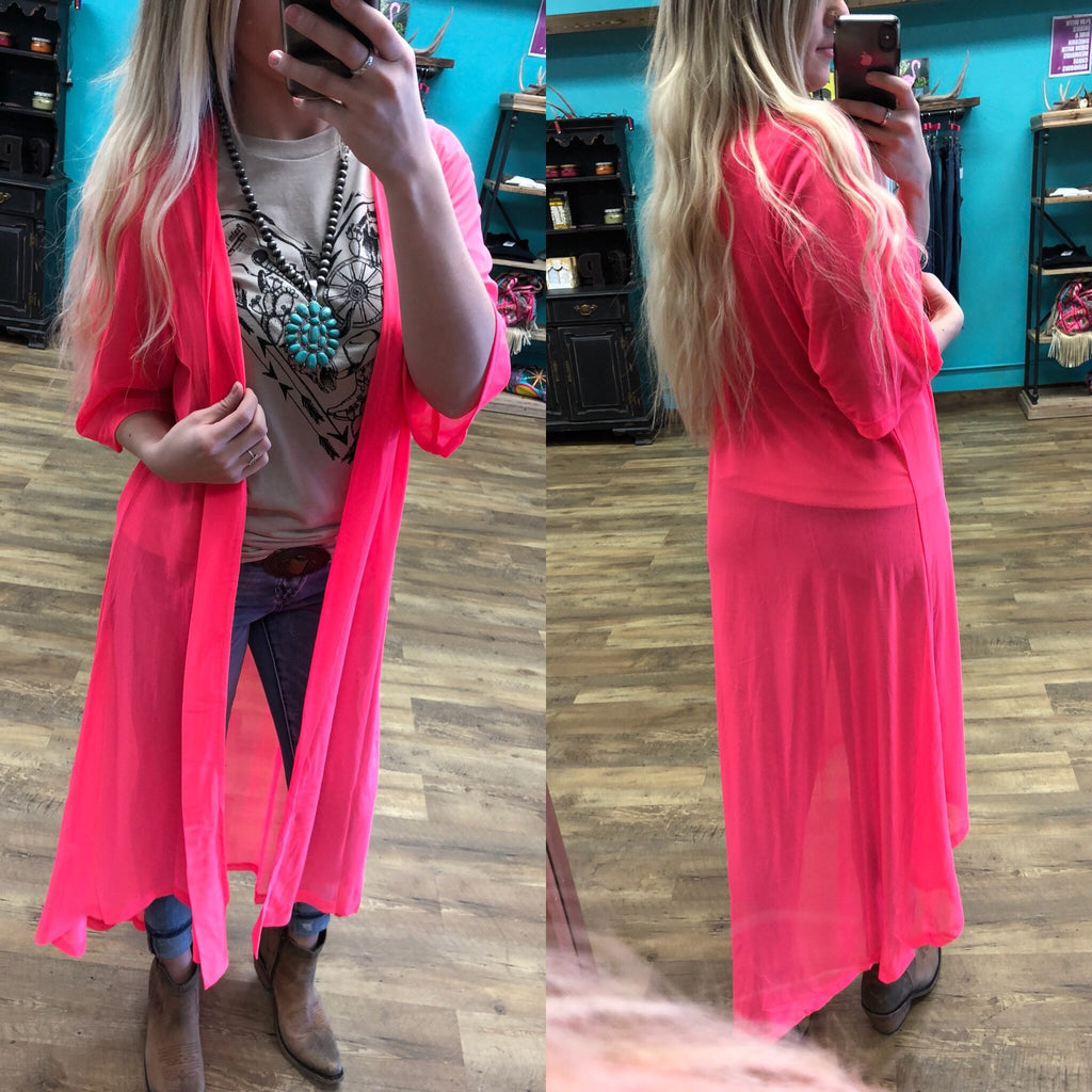 Show Stopping Hot Pink Duster