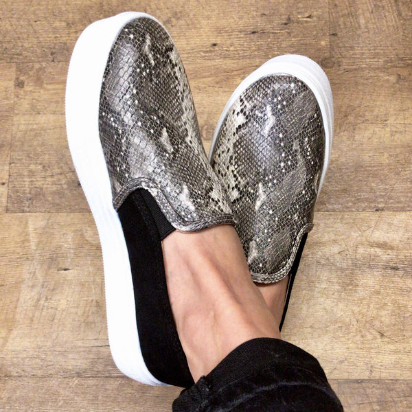 Lillie Snake Print Shoes