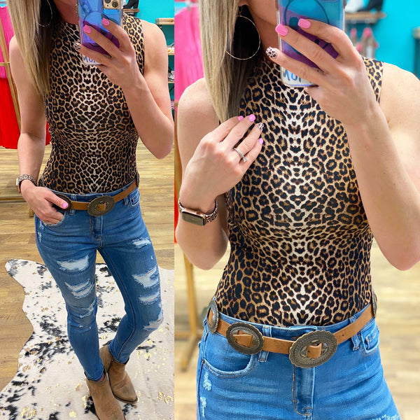 Mary Leopard Bodysuit