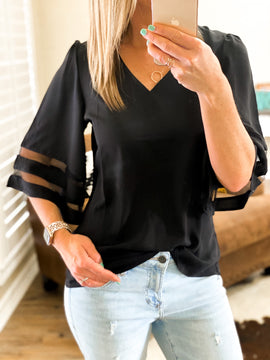Miranda Black Top