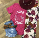 Wild Thing Tee- Fuchsia