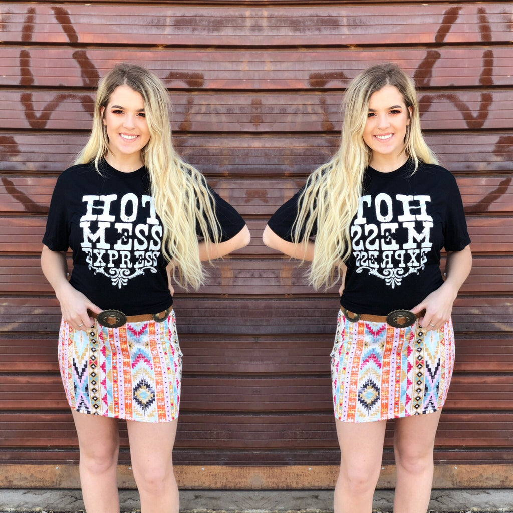Rose Aztec Skirt