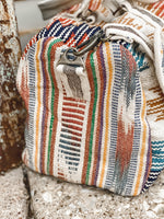 Cream Aztec Duffle Bag