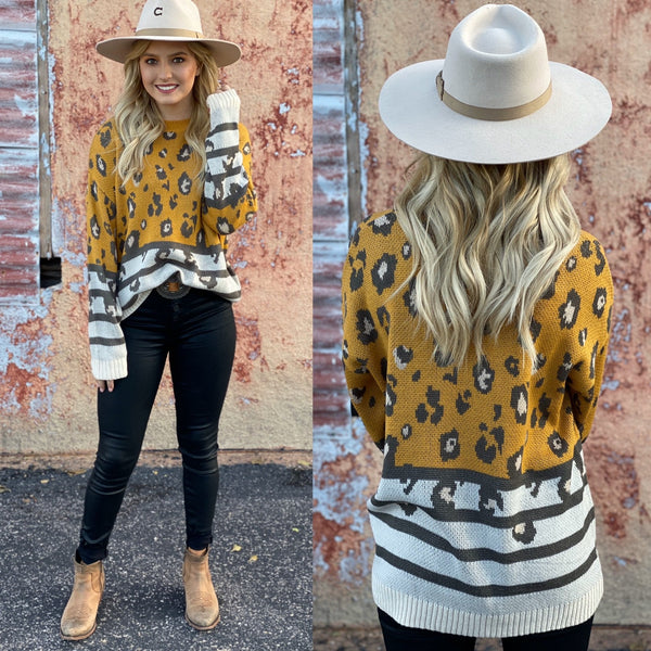 Leopard Combo Sweater