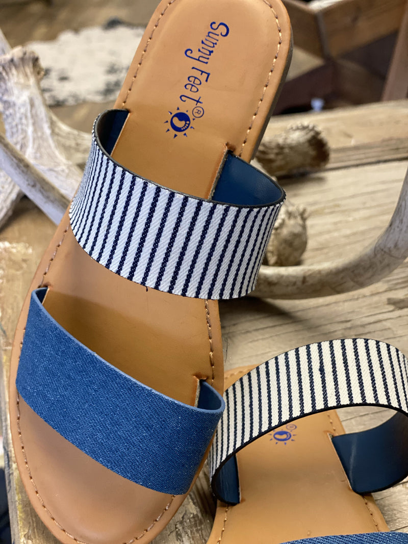 Beachfront Denim Sandals
