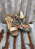 Macy May Floral Wedge