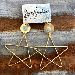 Gold Wired Star Earrings