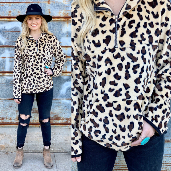Laura Leopard Pullover