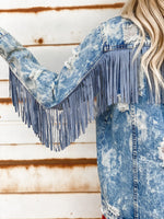 Blue Fringe Jacket