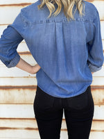 Calva Denim Tencel Top