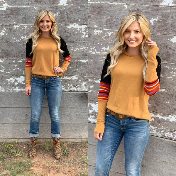 Katie Colorblock Top