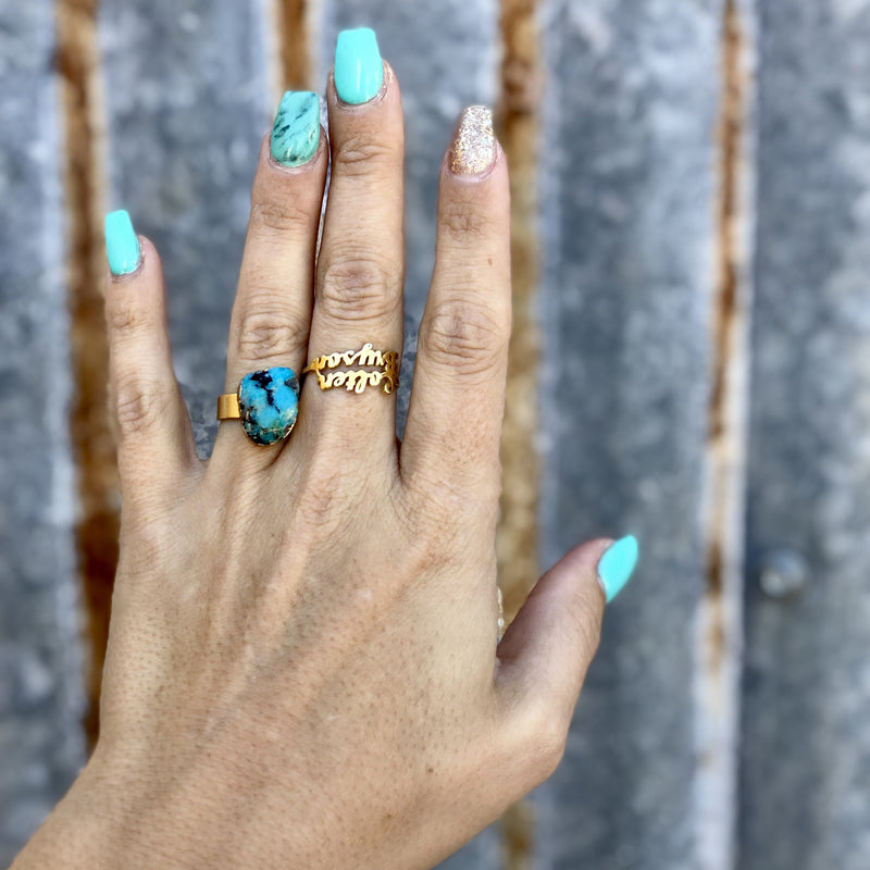Turquoise Enlay Ring