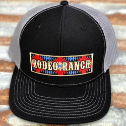Rodeo Ranch Aztec Hat-Black and Grey