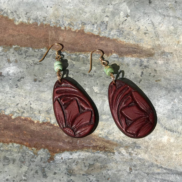 J. Forks Wine Teardrop Earrings