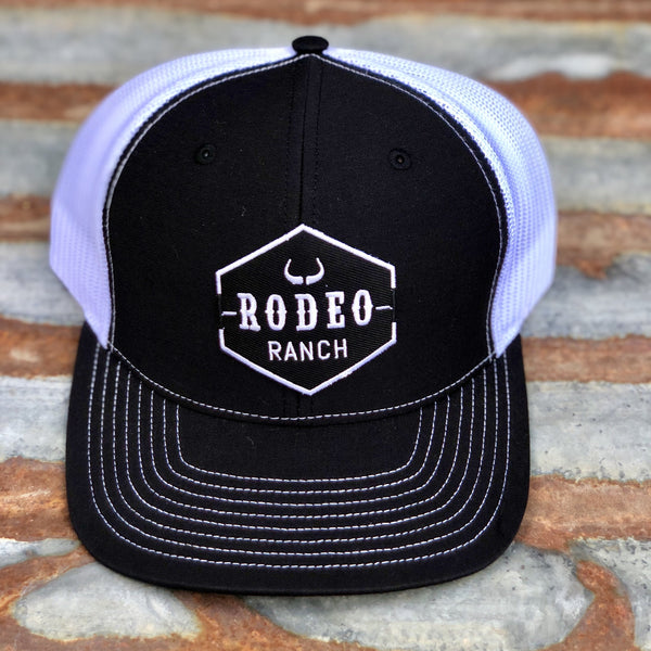 Rodeo Ranch Logo Hat-Black and White