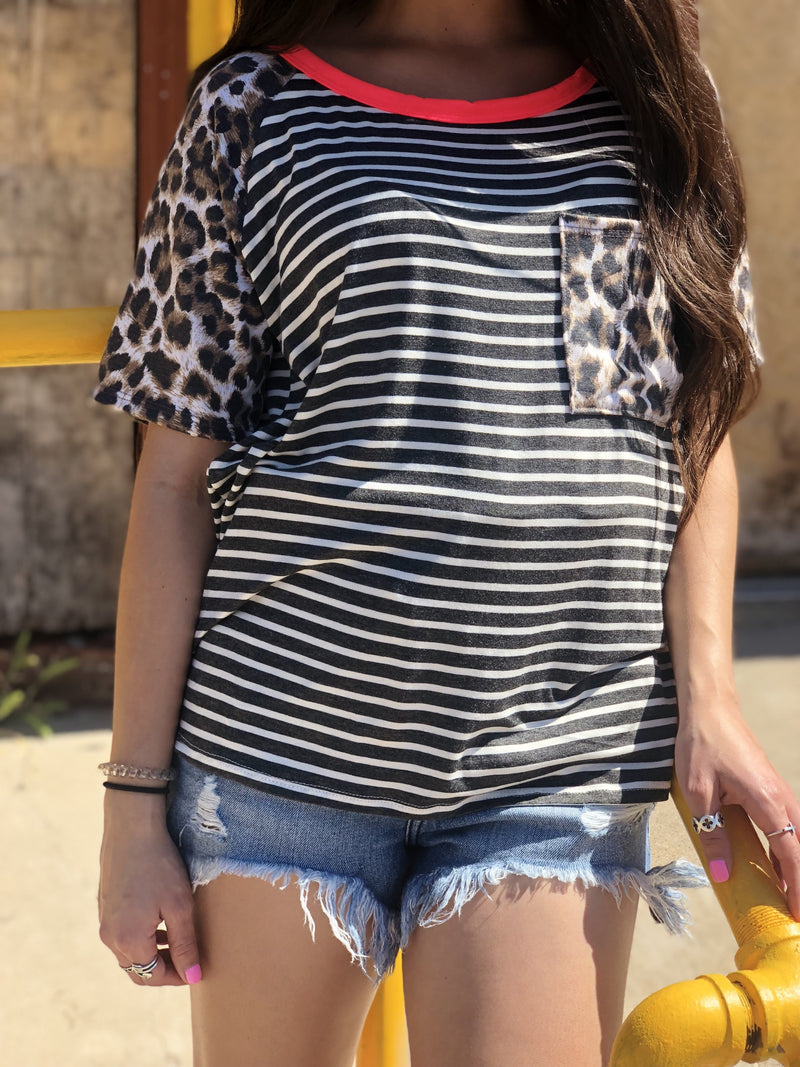 Edge Leopard Top