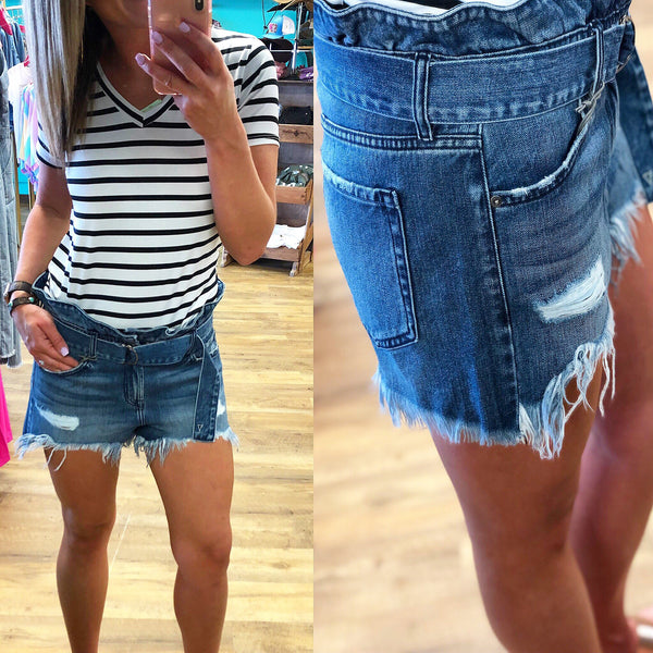 Lady Bird Denim Shorts