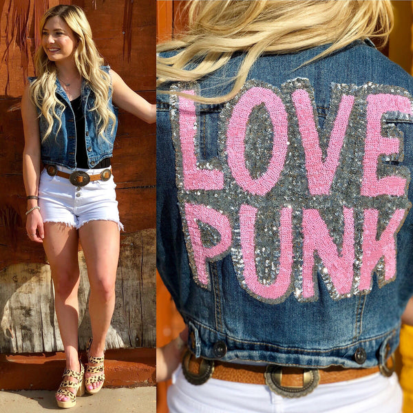 Love Punk Crop Vest