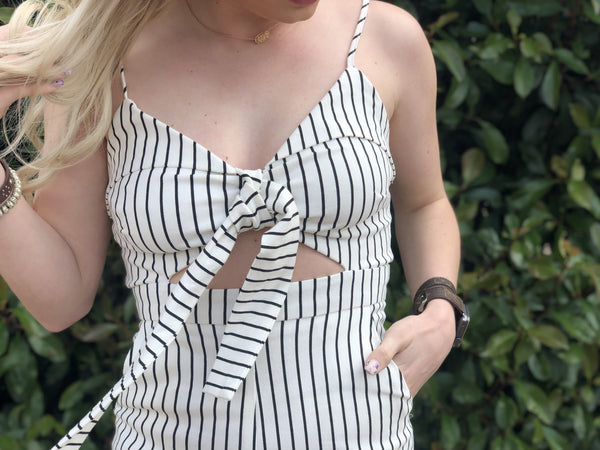 Payton Striped Jumpsuit