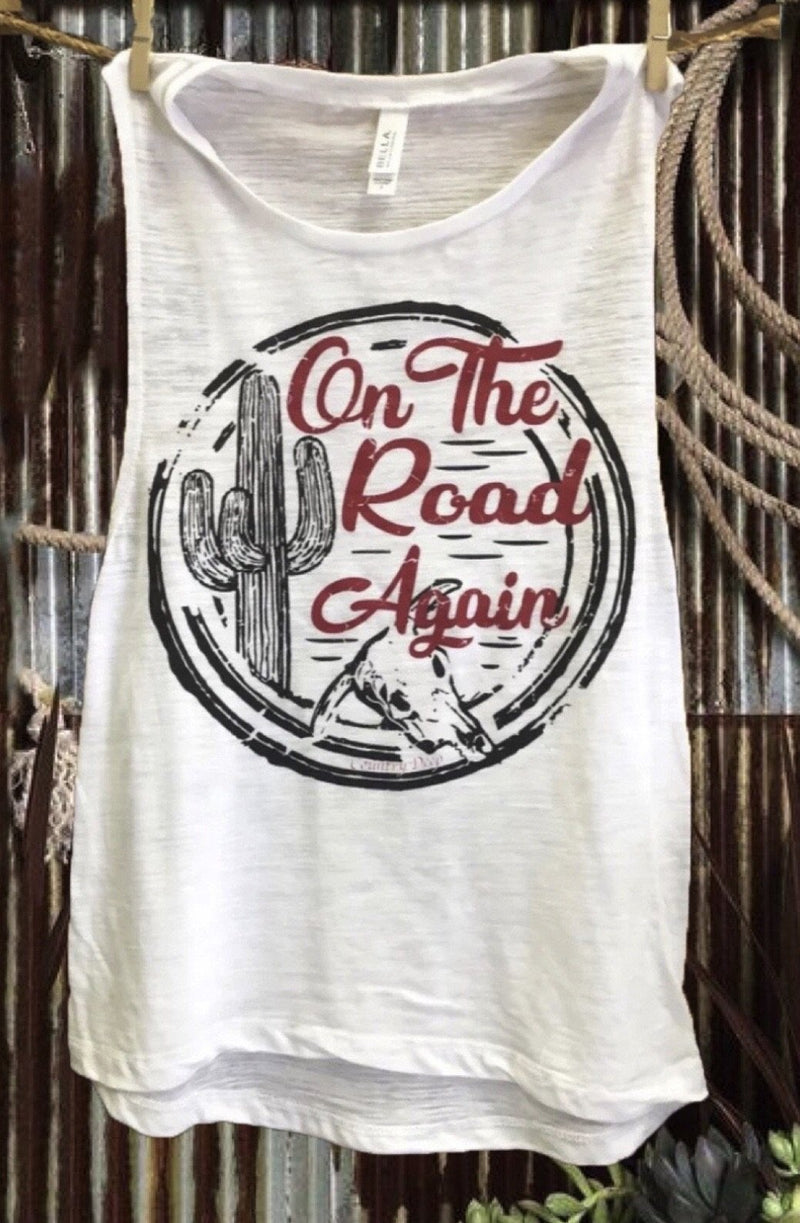 On The Road Again Muscle Tank Top