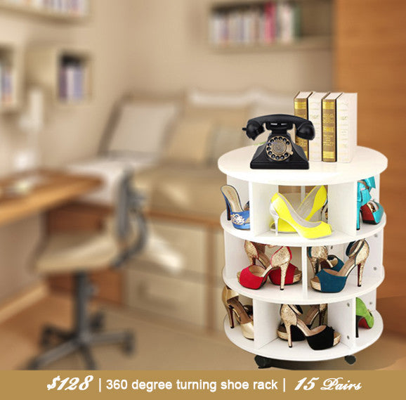 360 Degree Rotating Shoe Rack
