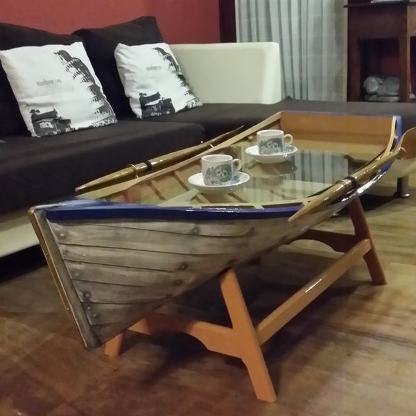 Wooden Boat Coffee Table