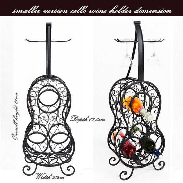 Wrought Iron Cello Wne Holder