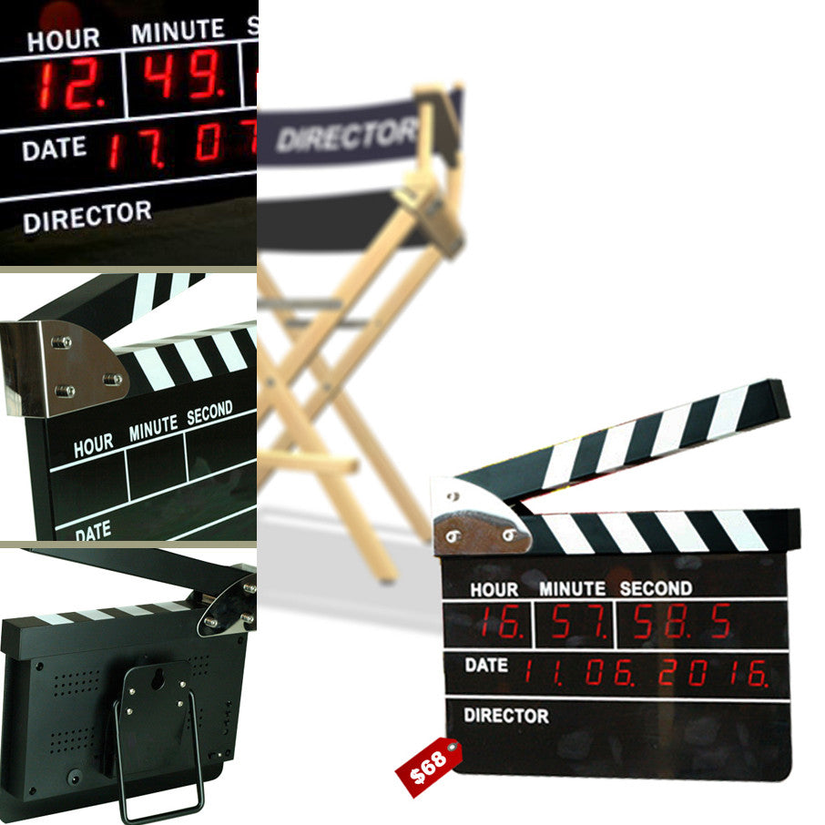 Clapper Board Digital Clock