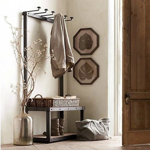 A designer Hanger, Bench & Shoe Rack
