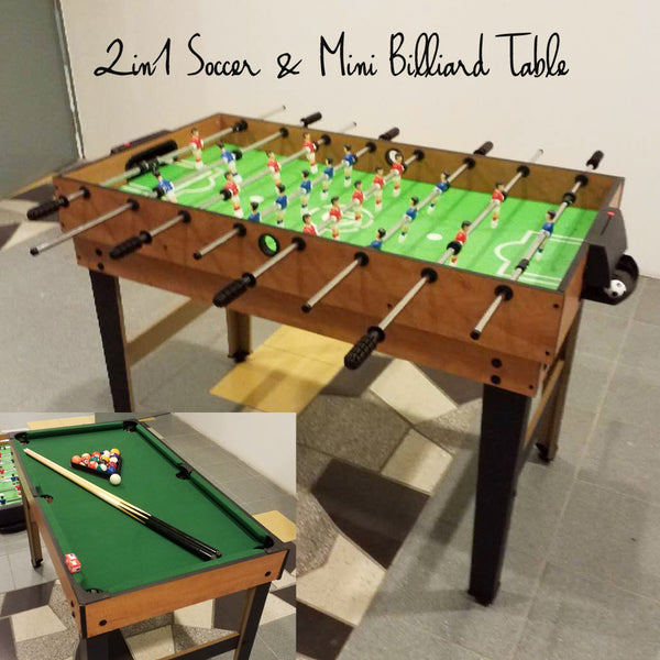 2 in 1 Soccer & Billiard Table