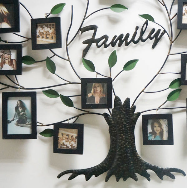 Wall Metal Family Tree Photo