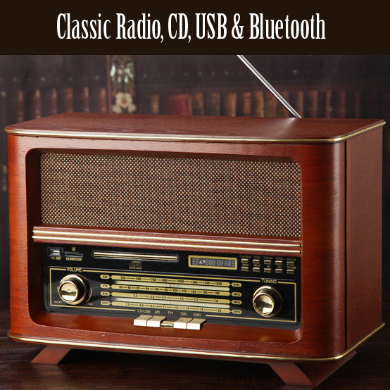 Big Size Vintage Radio with CD / USB / Bluetooth
