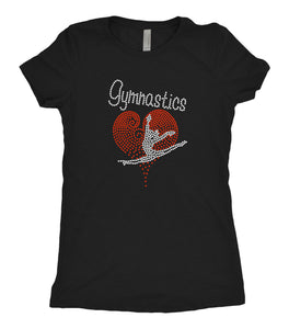 Tee Shirt - Heart Gymnast - AERO Leotards