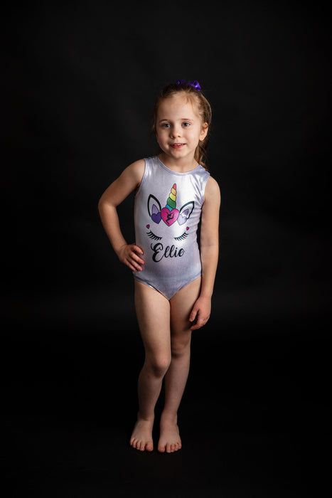 Unicorn Face Leotard - Personalized