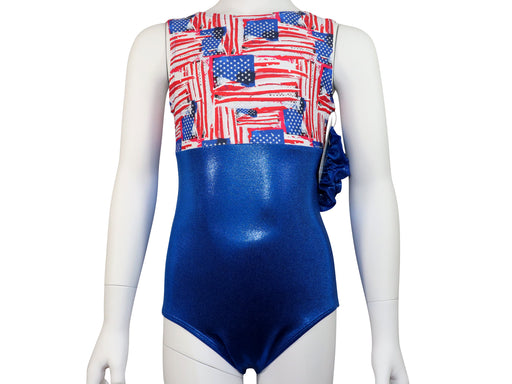 USA Patriotic Flags Leotard