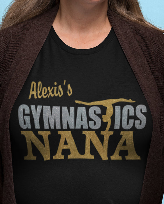 Personalized Gymnastics Nana T-Shirt