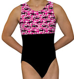 Pink Camouflage Lizards Leotard - AERO Leotards