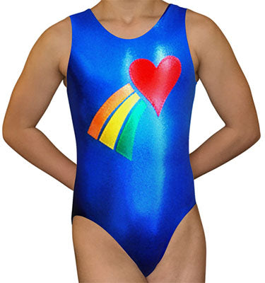 Rainbow Heart Leotard - AERO Leotards