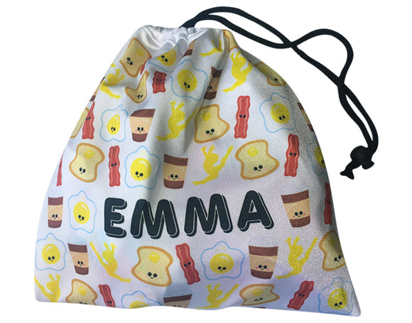Personalized Bacon & Eggs Grip Bag - AERO Leotards