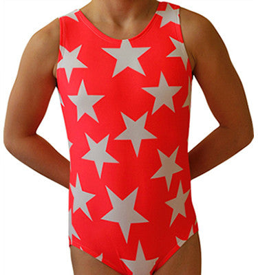 Coral Stars Gymnastics Leotard by AERO Leotards