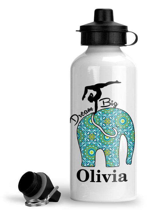 Personalized Elephant Dream Big Sports Bottle - AERO Leotards