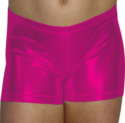 Fuchsia Pink Mystique Shorts - AERO Gymnastics Leotards