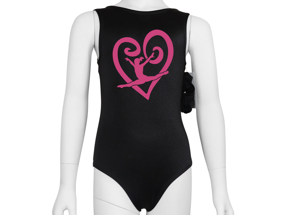 Gymnast Swirl Heart Leotard