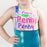 Personalized Subway Art Name Leotard - Hawaii Mint