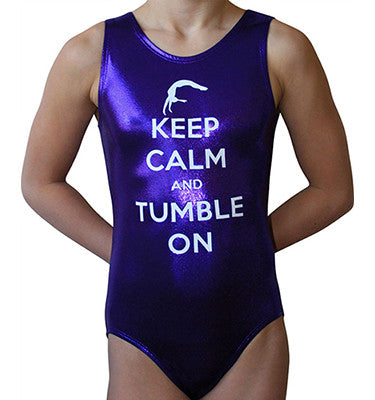 Keep Calm and Tumble on leotard