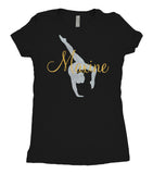 Tee Shirt - Personalized Gymnast - AERO Leotards