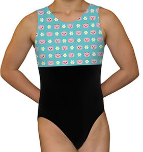 Pigs & Flowers Leotard - AERO Leotards