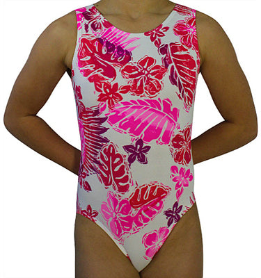 Tropical Breeze Pink Leotard - AERO Leotards